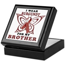 I Wear Burgundy for my Brother Keepsake Box