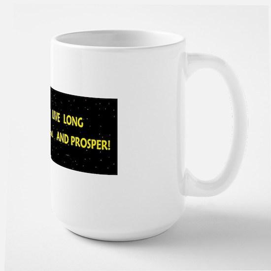 live long and prosperspacbump Large Mug