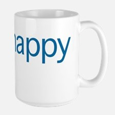 Think Happy (blue edition) Large Mug