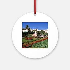 Pastel architecture and colorful ga Round Ornament