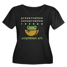 Preserve Women's Plus Size Dark Scoop Neck T-Shirt