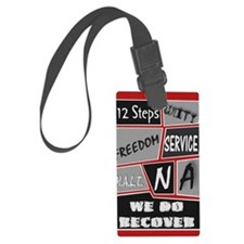 NA 12 Steps Posters Luggage Tag