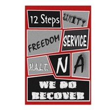 NA 12 Steps Posters Postcards (Package of 8)