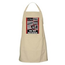 NA 12 Steps Posters Apron