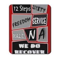 NA 12 Steps Posters Mousepad