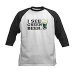 I See Green Beer St Pat's Kids Baseball Jersey