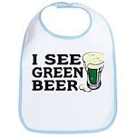 I See Green Beer St Pat's Bib