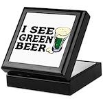I See Green Beer St Pat's Keepsake Box
