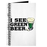 I See Green Beer St Pat's Journal