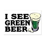 I See Green Beer St Pat's Mini Poster Print