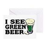 I See Green Beer St Pat's Greeting Cards (Package