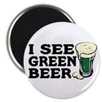 I See Green Beer St Pat's Magnet