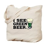 I See Green Beer St Pat's Tote Bag