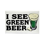 I See Green Beer St Pat's Rectangle Magnet