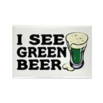 I See Green Beer St Pat's Rectangle Magnet (10 pac