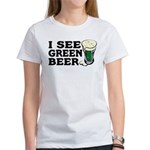 I See Green Beer St Pat's Women's T-Shirt