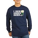 I See Green Beer St Pat's Long Sleeve Dark T-Shirt