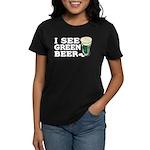 I See Green Beer St Pat's Women's Dark T-Shirt