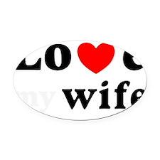 I love my wife heart Oval Car Magnet