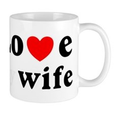 I love my wife heart Small Mugs