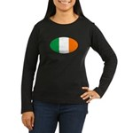 Irish Oval Flag Women's Long Sleeve Dark T-Shirt