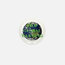 Stop Global Warming Mini Button (10 pack)