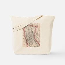 Vintage Map of Northern California (1883) Tote Bag