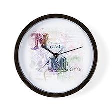 Unique Navy fiancee Wall Clock