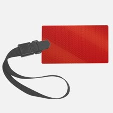 Red Pattern Luggage Tag
