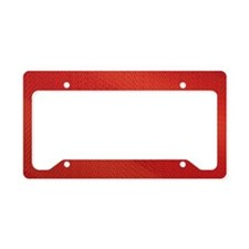 Red Pattern License Plate Holder
