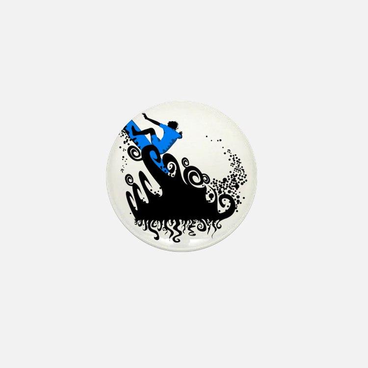 Surf Blue Mini Button