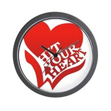 Hit Your Heart (White) Wall Clock
