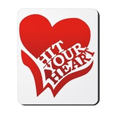 Hit Your Heart (White) Mousepad