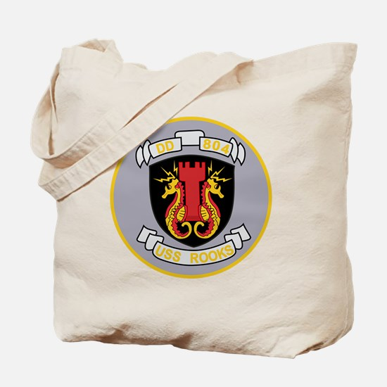 DD-804 USS Rooks Destroyer Ship Military  Tote Bag