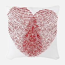 heart10 Woven Throw Pillow