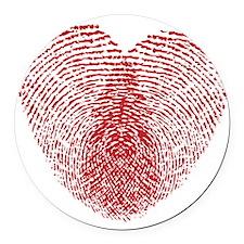 heart10 Round Car Magnet
