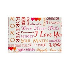 The Colors of Love Rectangle Magnet
