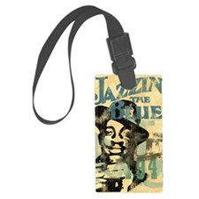 jazzin the blues framed panel pr Luggage Tag