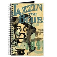 jazzin the blues framed panel print copy Journal