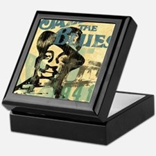 jazzin the blues framed panel print c Keepsake Box