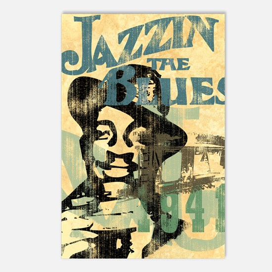 jazzin the blues framed p Postcards (Package of 8)