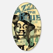jazzin the blues framed panel print Decal