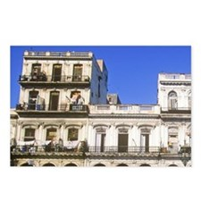 Apartment building in the Postcards (Package of 8)