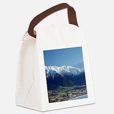 Kaikoura and Snow on Seaward Kaik Canvas Lunch Bag