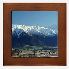 Kaikoura and Snow on Seaward Kaikoura  Framed Tile