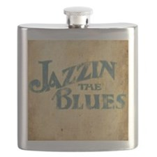 Jazzin the Blues 2 (Square) Flask