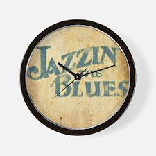 Jazzin the Blues 2 (Square) Wall Clock