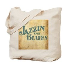 Jazzin the Blues 2 (Square) Tote Bag