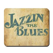 Jazzin the Blues 2 (Square) Mousepad