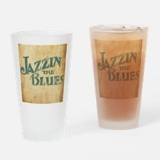 Jazzin the Blues 2 (Square) Drinking Glass